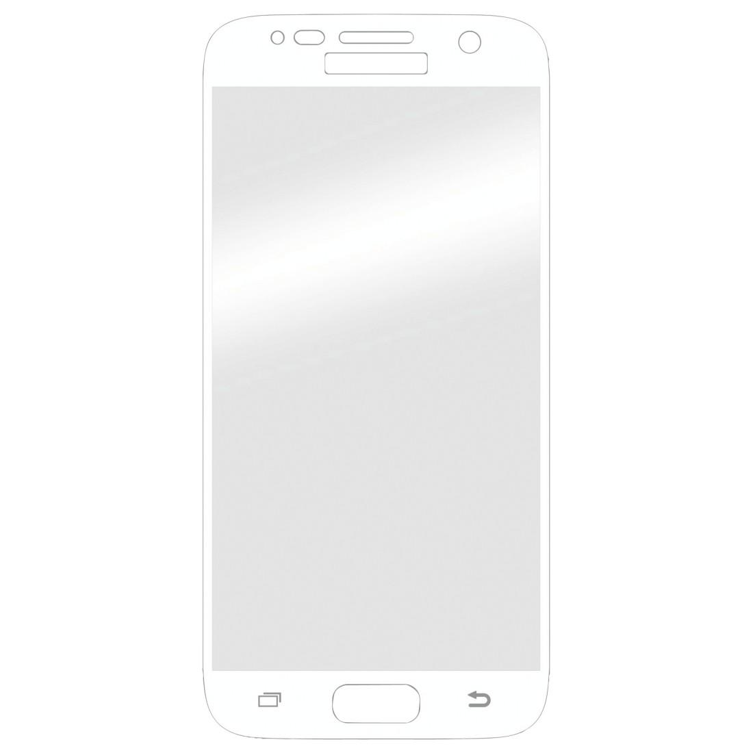 Стъклен протектор HAMA 3D Full, за Samsung Galaxy S7, Бял
