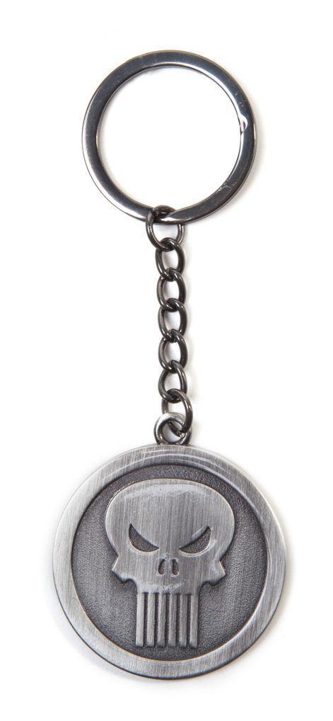 Ключодържател Marvel - Punisher Metal Keychain, Bioworld
