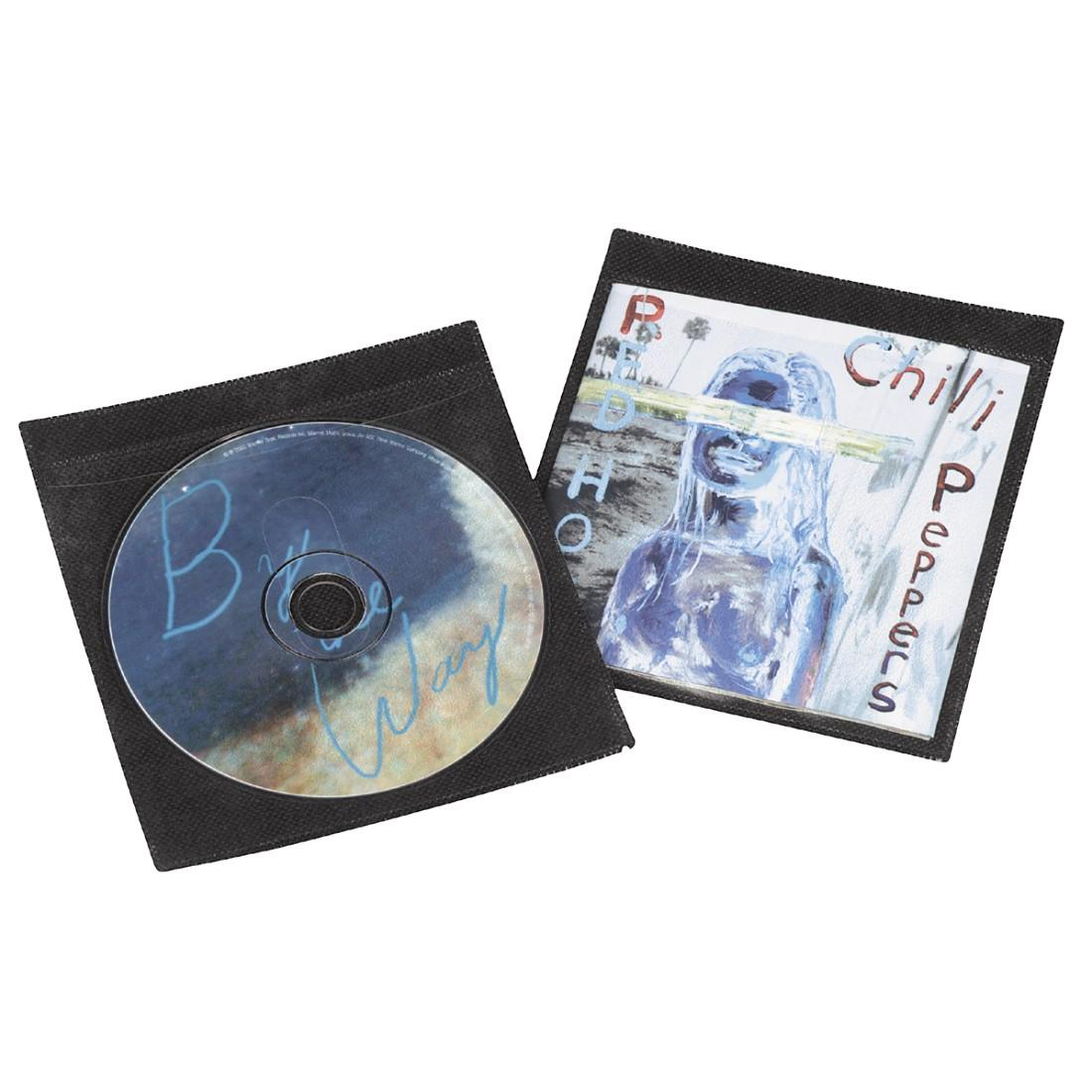 Джоб за 2бр. CD-та без обложка- 25бр/опаковка HAMA, Черен