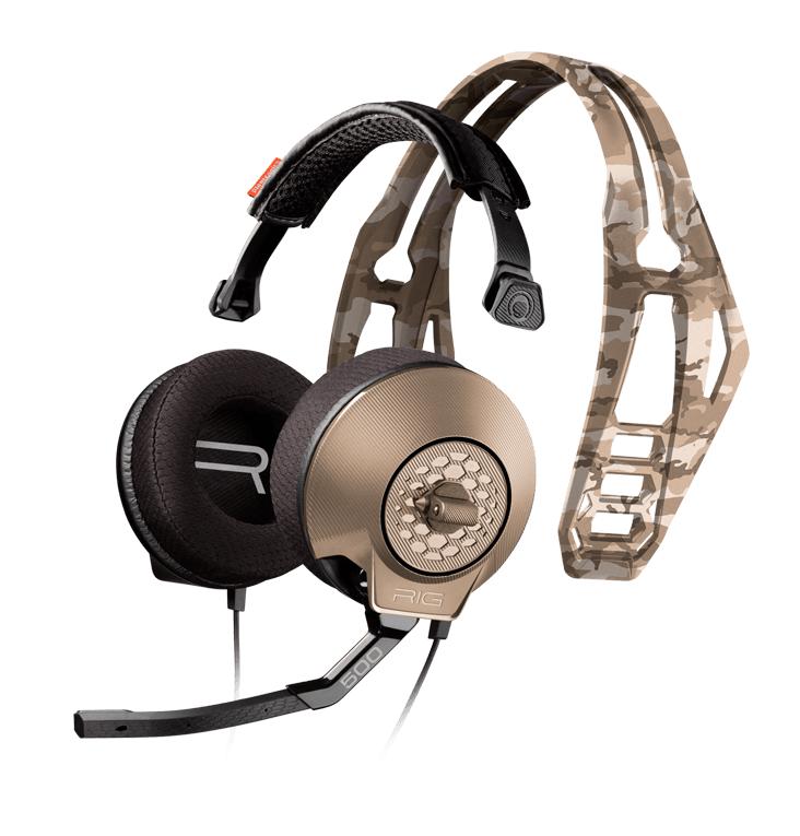 Геймърски слушалки Plantronics, RIG 500HX Sand Camo, Микрофон, Камуфалжни