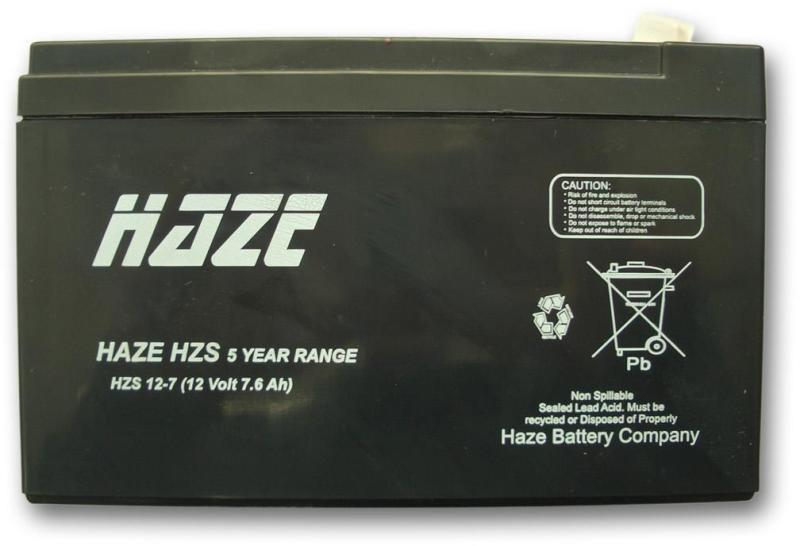Оловна Батерия Haze HZS12-7, 12 V / 7Ah, 151 / 65 / 94 mm TERMINAL 2 AGM