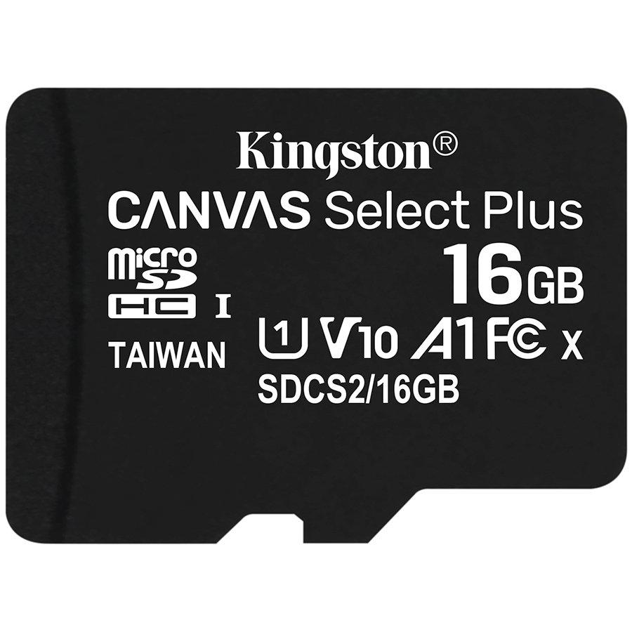 Карта памет Kingston Canvas Select Plus  microSDHC 16GB, Class 10, UHS-I, Bulk