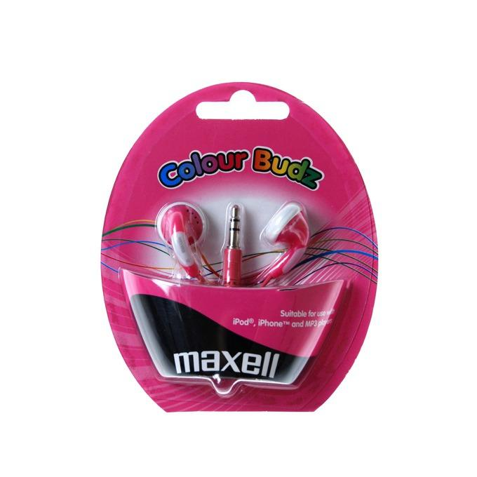 Слушалки  MAXELL color BUDS , In-Ear, Розов