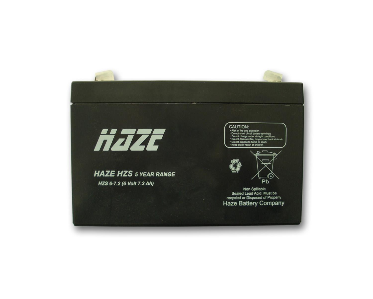 Оловна Батерия Haze (HZS6-7.2) 6 V / 7.2 Ah - 150 / 34 / 94 mm AGM
