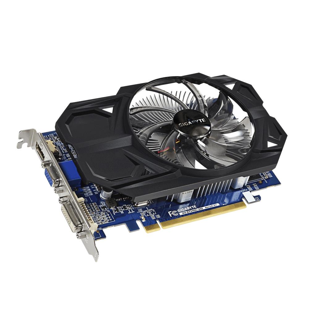 Видео карта GIGABYTE AMD Radeon R7 240, 2GB, DDR3, 128 bit, DVI-D, HDMI, D-Sub, rev 2.1