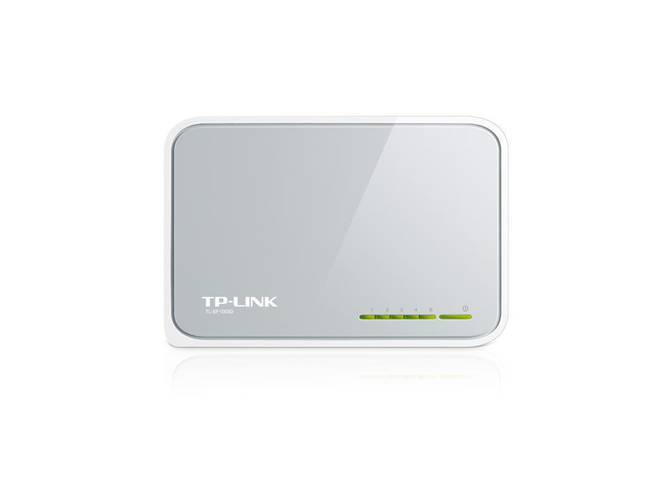Суич TP-LINK TL-SF1005D, 5 портов, 10/100Mbps