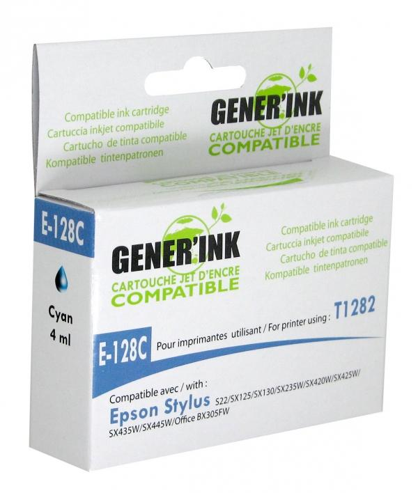 Мастилница GENERINK T1282 EPSON, Cyan