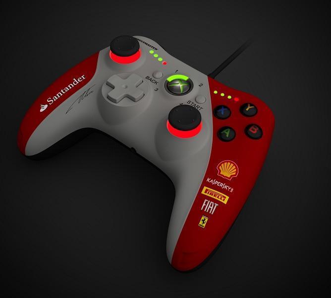 Жичен геймпад Thrustmaster GPX LightBack Ferrari F1 Edition,  за PC и XBox 360