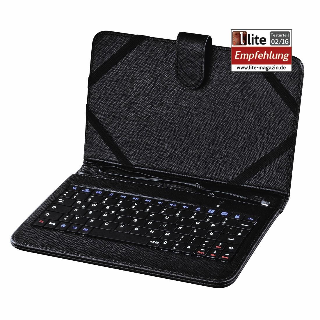 """Универсален калъф с жична клавиатура HAMA, 7"""",  Черен"""