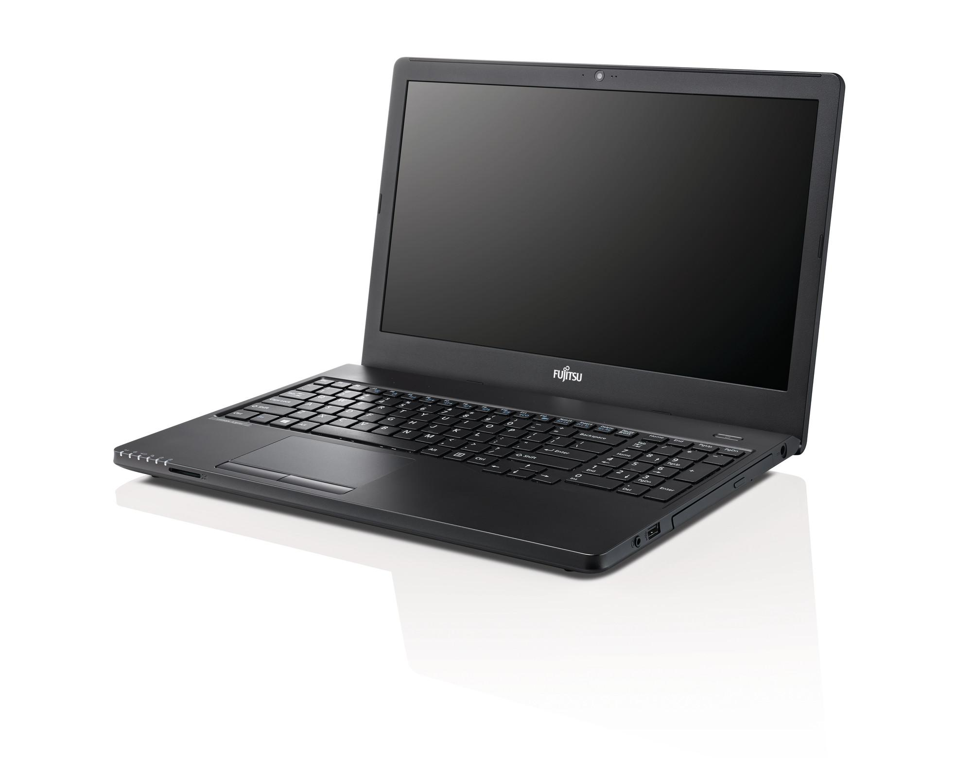 "Лаптоп FUJITSU LIFEBOOK A555, процесор Intel Core i3-5005U (3MB 2GHz), 15.6"", 4GB, 500 GB SATA 5400rpm, без ОС, Intel HD Graphics 5500, Черен"