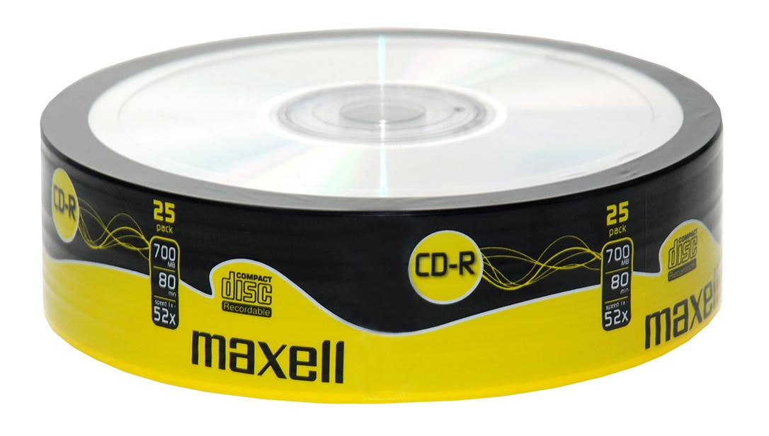 CD-R80 MAXELL, 700MB, 52x, 25 бр