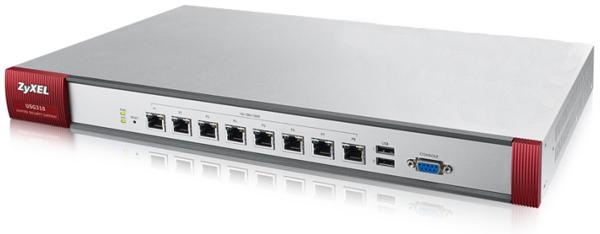 Firewall Zyxel ZyWALL USG 310, VPN, USB, 8-портов