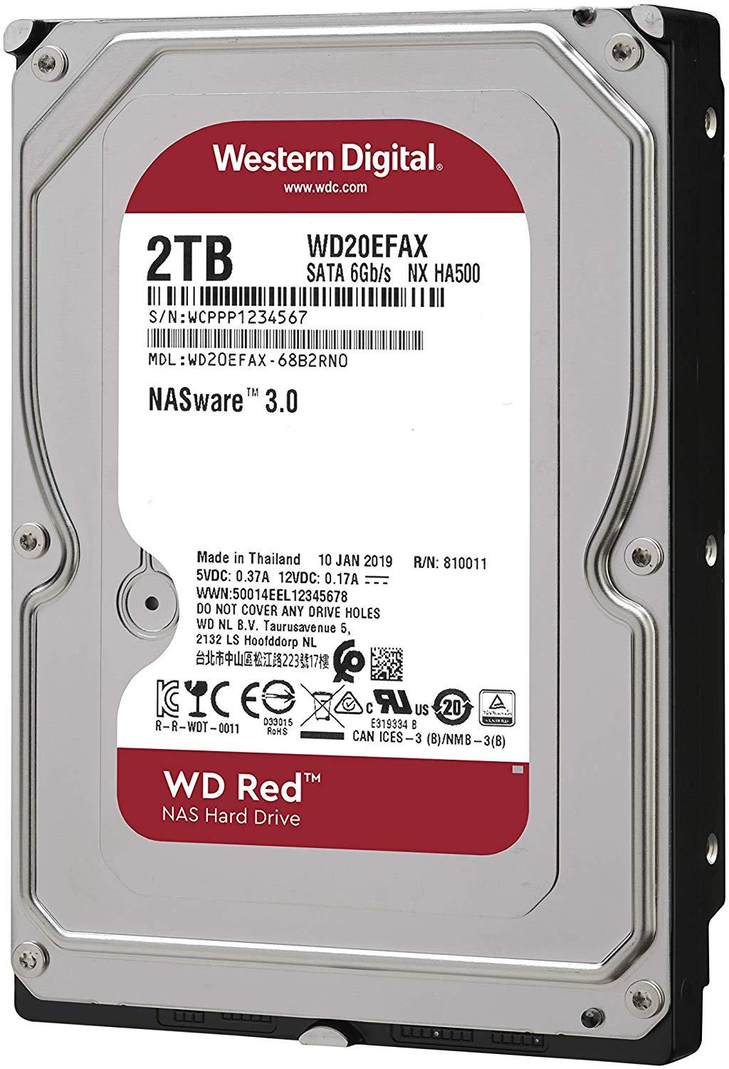 Хард диск WD RED, 2TB, 5400rpm, 256MB, SATA 3