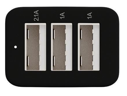 Зарядно за кола  MAXELL TRIPLE с три изхода, 3 x USB, Черен/Сребрист