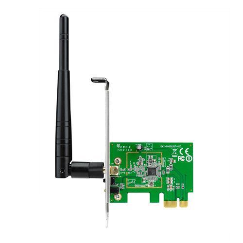 Безжичен PCI Express адаптер ASUS PCE-N10, 802.11n 150Mbps