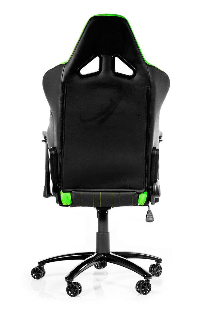 Геймърски стол AKRACING Player, черно и зелено