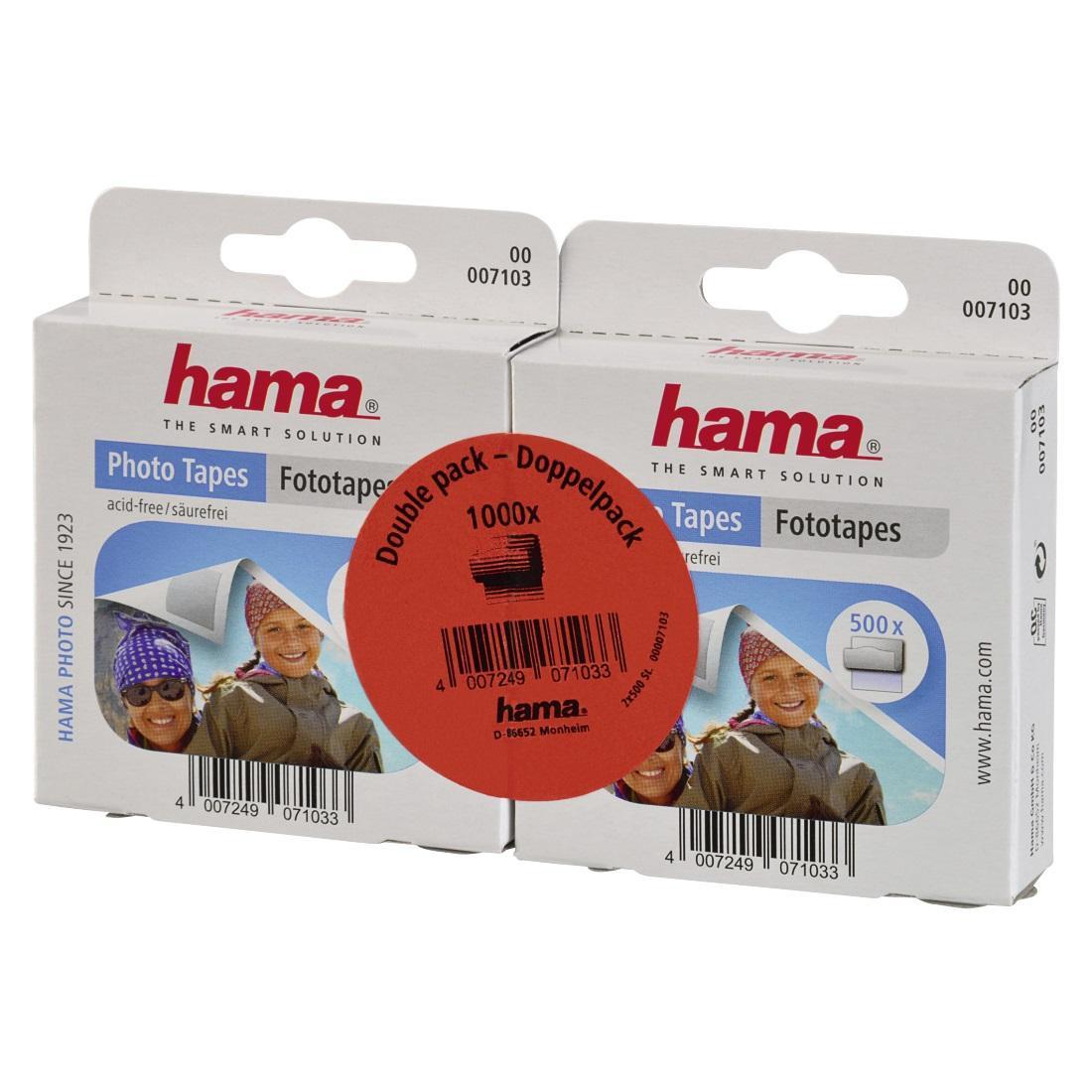 Самозалепваща лента за снимки HAMA 07103, 2x500 ленти двоен пакет