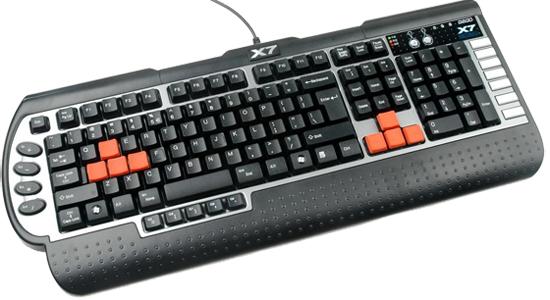 Геймърска клавиатура A4tech, X7 G800V, USB, Черна