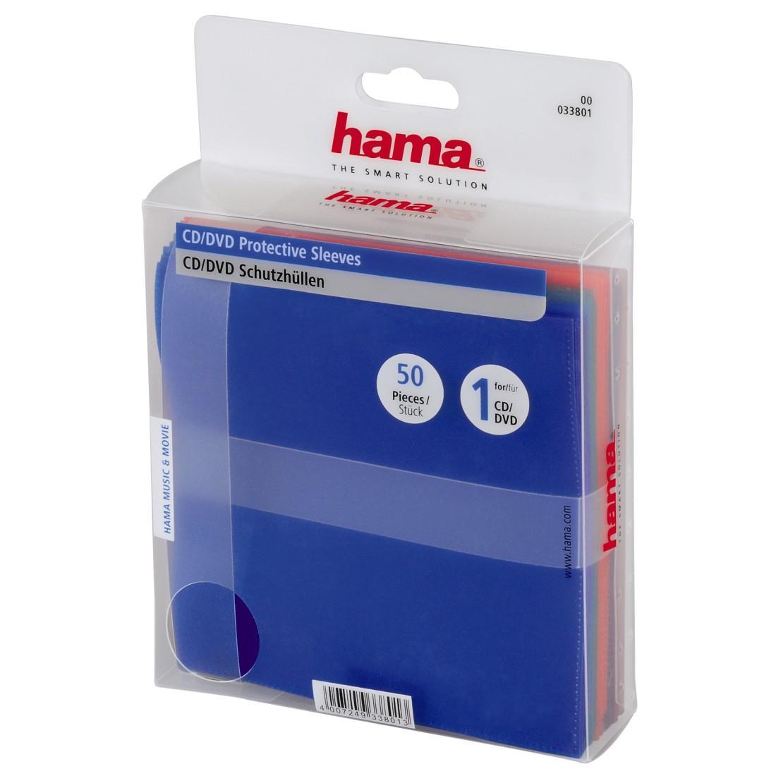 Полиетиленов плик CD- 50 бр.пакет HAMA, различни цветове