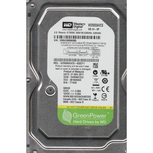 Хард диск WD AV-GP, 500 GB, 7200rpm, 16MB, SATA 3.0Gb/s