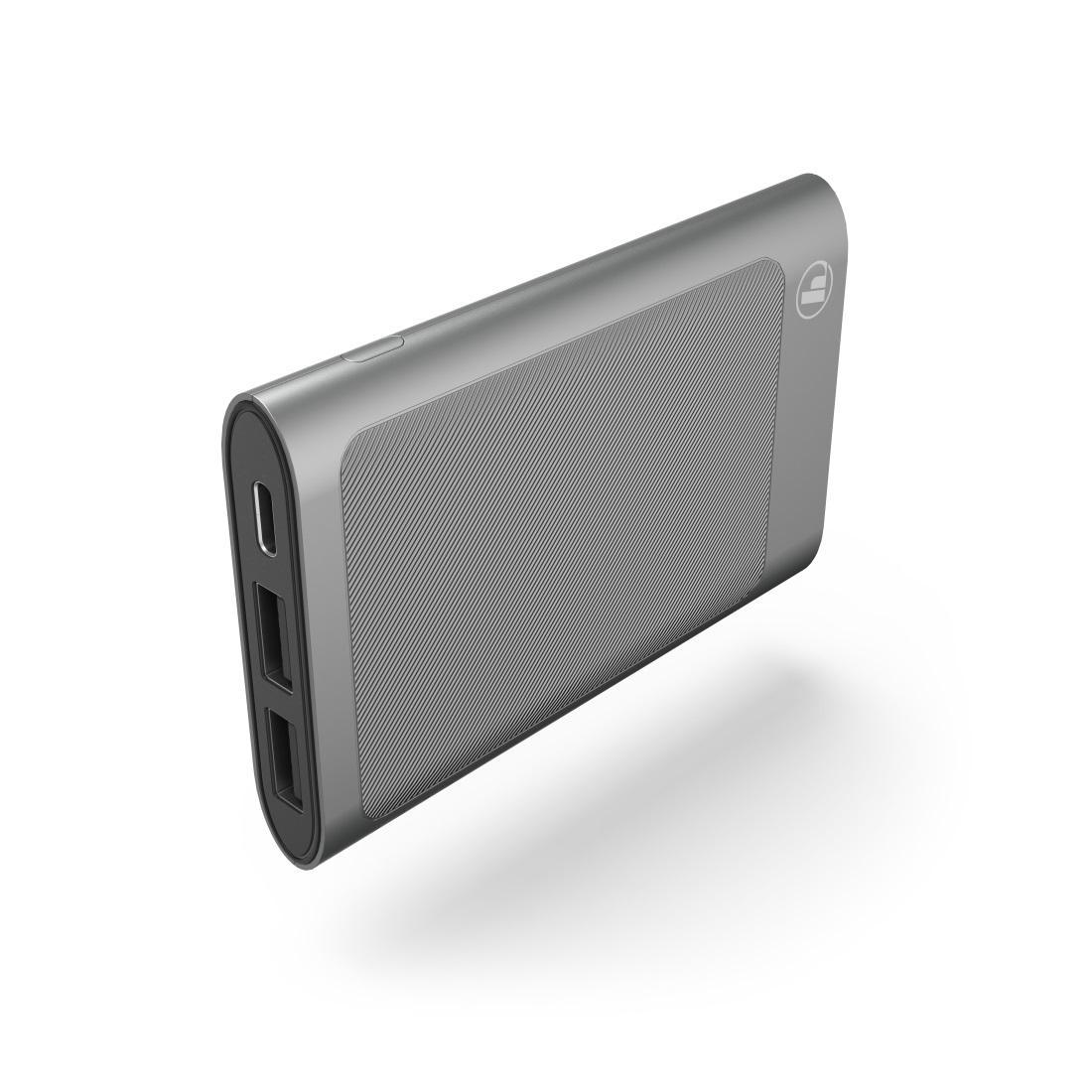 Външна батерия HAMA HD-5, 5000 mAh, USB-C, to go, Сив
