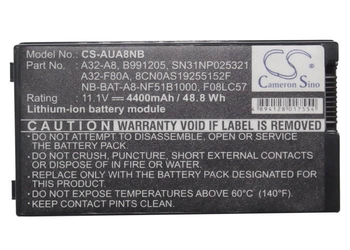 Батерия  за лаптоп ASUS A32-F80A, 10.8V, 4400mAh, Черен, Cameron sino