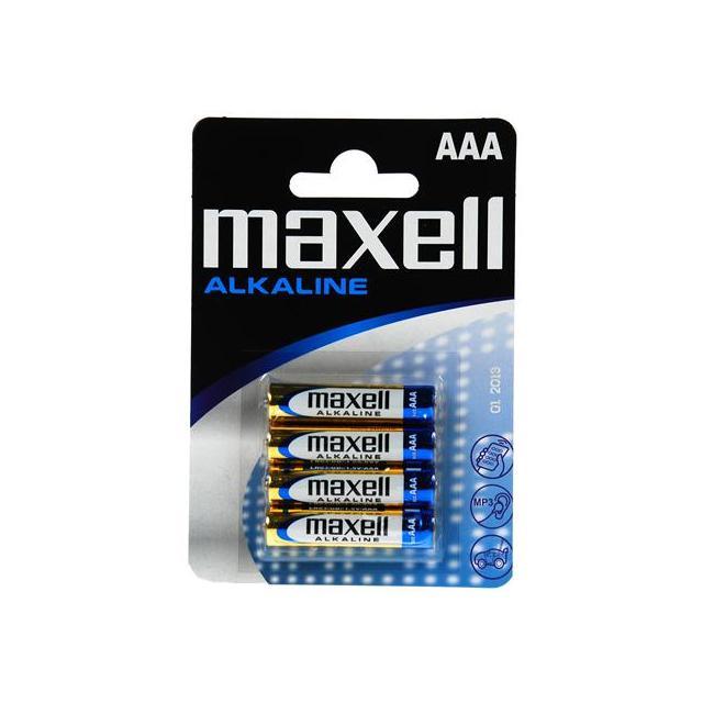 Алкална батерия MAXELL LR-03 /4 бр. в опаковка/ 1,5V