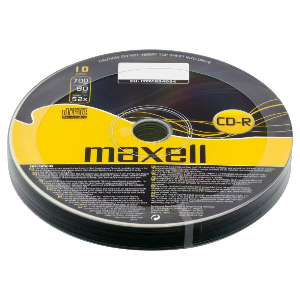 CD-R80 MAXELL, 700MB, 52x, 10 бр