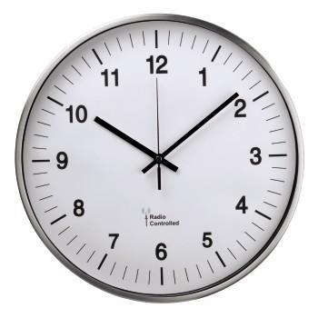 Часовник с радио сверяване AG-340 HAMA 113977, Сребрист