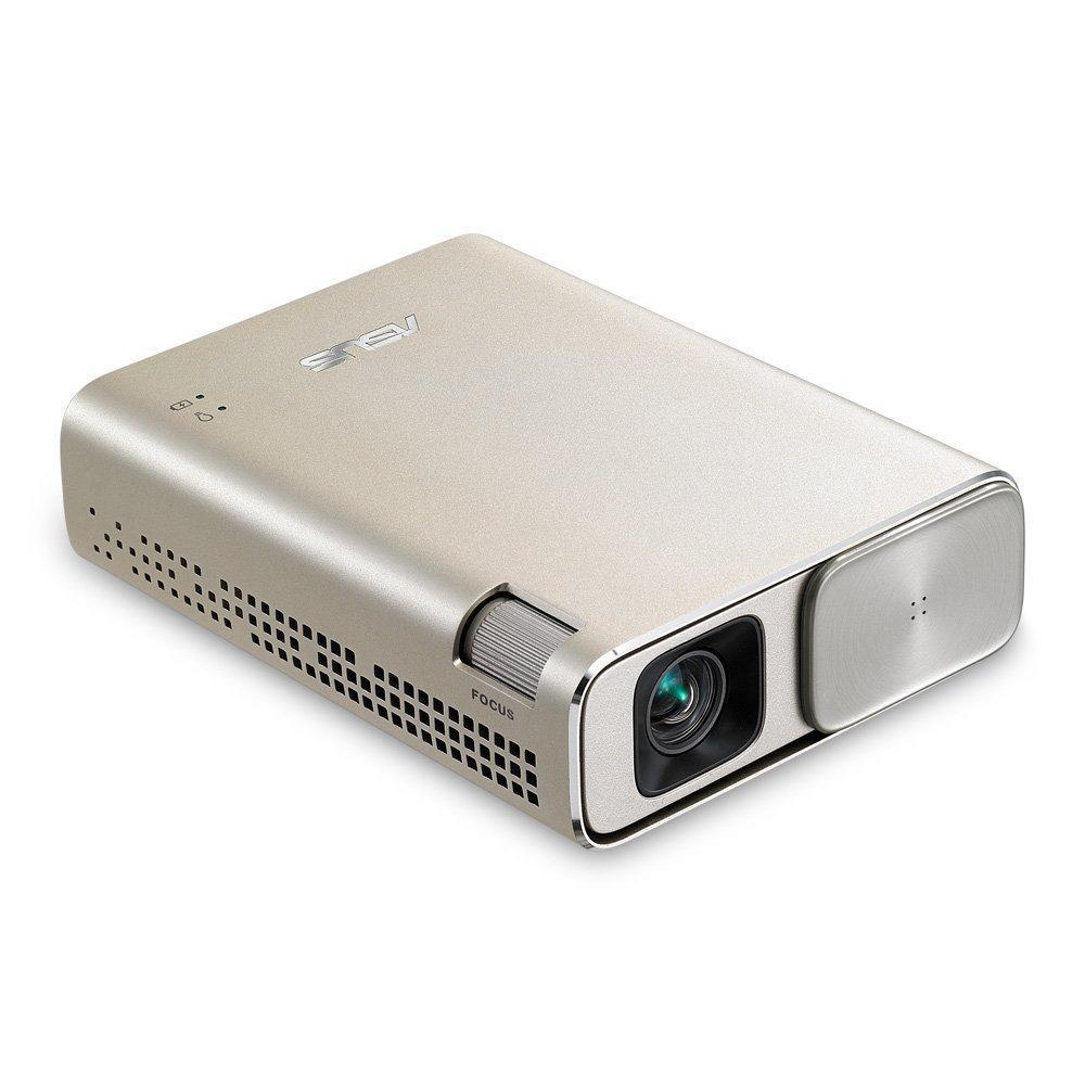 Джобен LED Видеопроектор ASUS ZenBeam Go E1Z Gold,150, 800:1; Micro-USB , WVGA; 0.310kg; 6 000mAh батерия