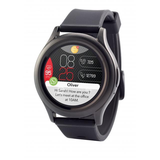 Смарт часовник MyKronoz ZeRound3, AMOLED тъч цветен екран, черен