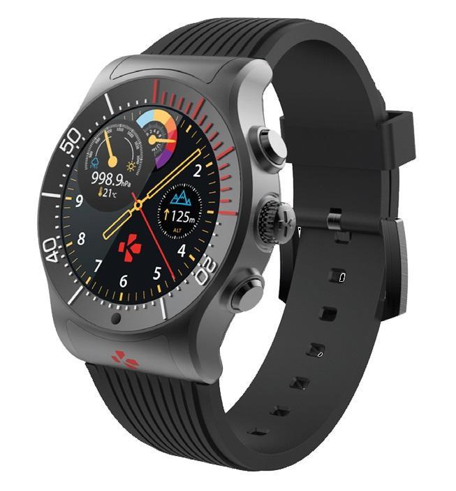 Смарт часовник MyKronoz ZeSport, GPS, Черен