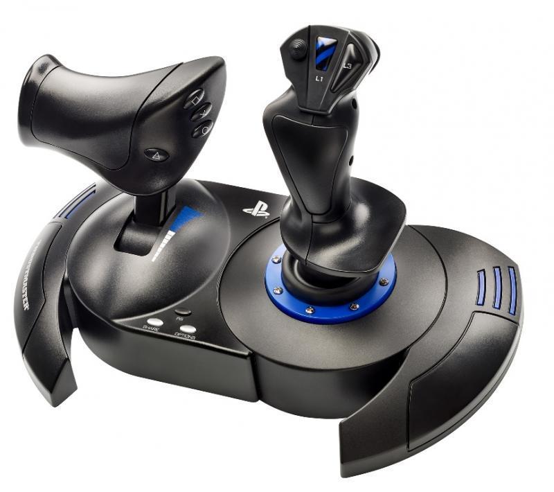 Жичен джойстик,  авиосимулатор Thrustmaster T.Flight Hotas 4  за PC / PS4, Черен