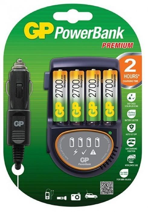 Зарядно устройство GP ,PB50GS270+4 AA NiMH 2700mAh FAST /12V & 220V/ GP