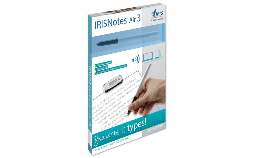 Цифрова писалка и USB приемник IRIS IRISNotes Air 3, съхранява до 100 страници A4/Letter Размер
