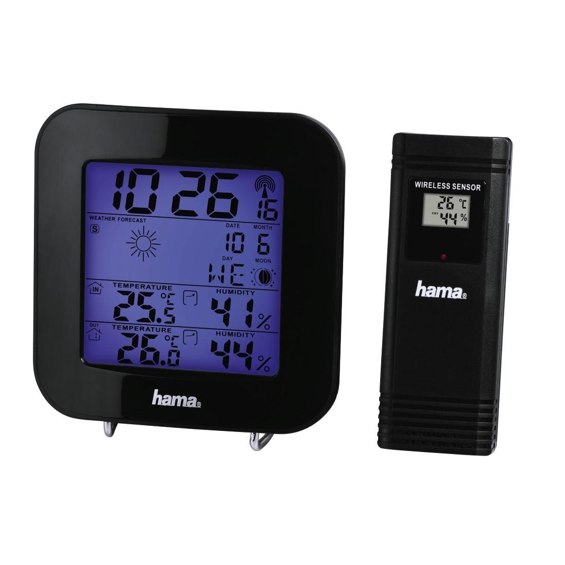 Електронна метеостанция HAMA EWS-200, 186310,  черен