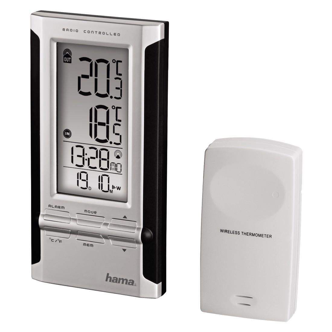 Електронна метеостанция HAMA EWS-180 104930, Черен/Сив