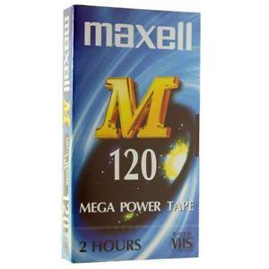 Видеокасета MAXELL M120, 120 мин., VHS