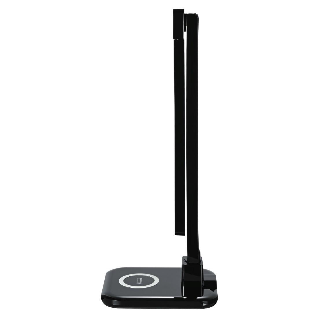 """Настолна лампа  HAMA """"SL 65"""" 112298, QI зарядно, 4 режима на светене, таймер, Черен"""
