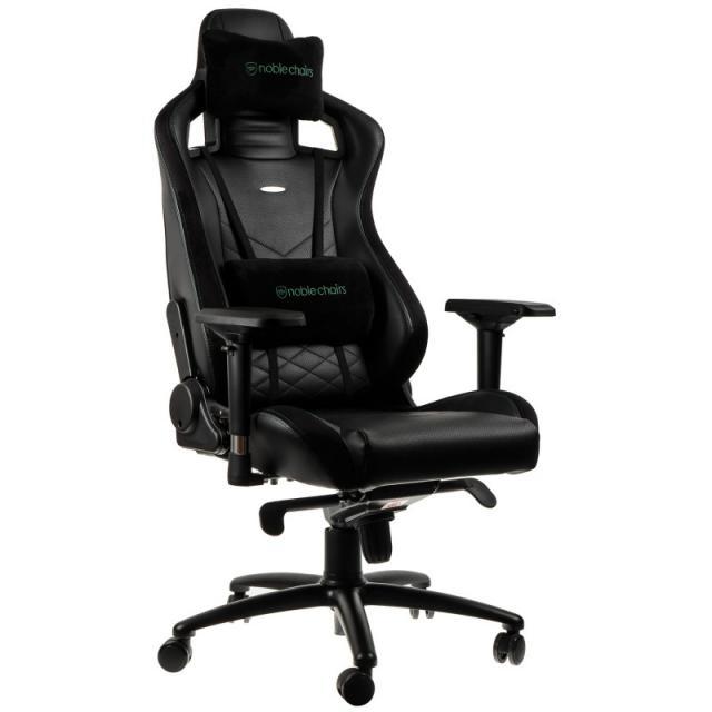Геймърски стол noblechairs EPIC, Black/Green