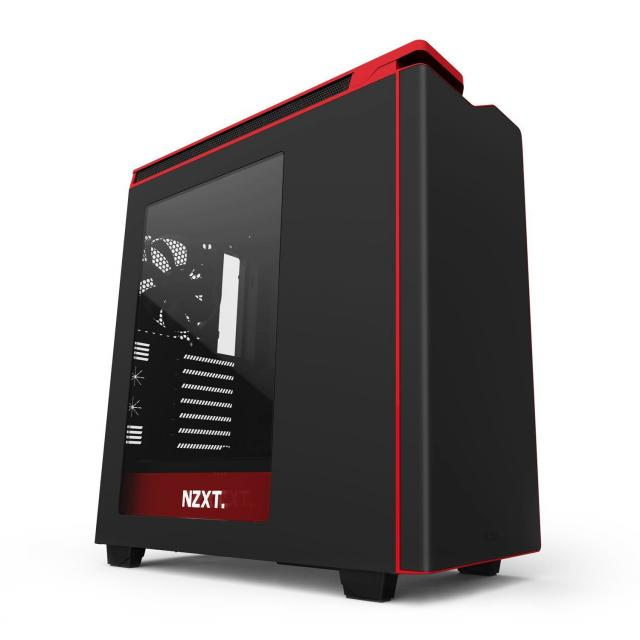 Кутия NZXT H440 Matt Black/Red Mid Tower