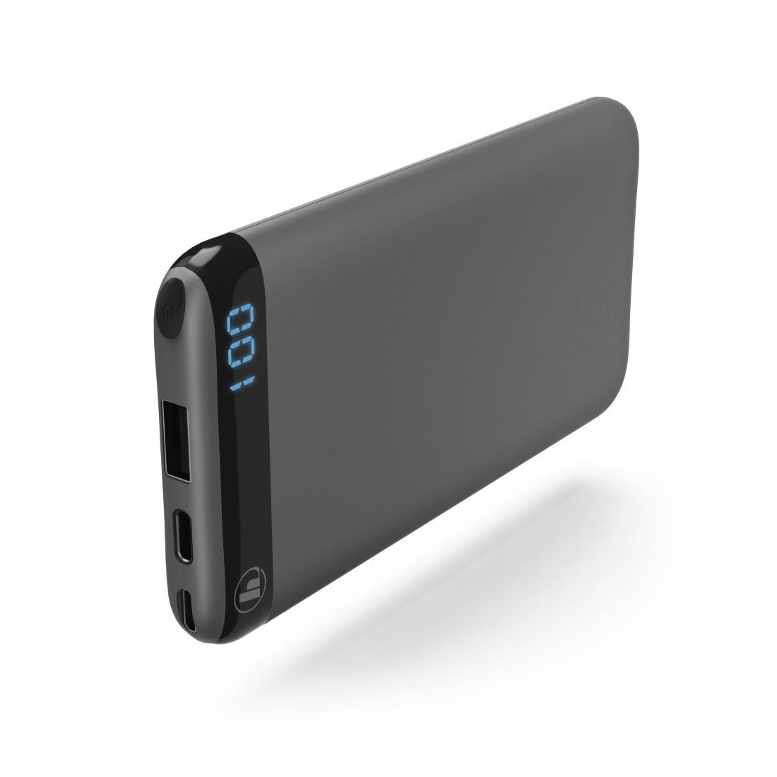 Външна батерия HAMA LED10S, 10000 mAh, Черен,Li-Polymer