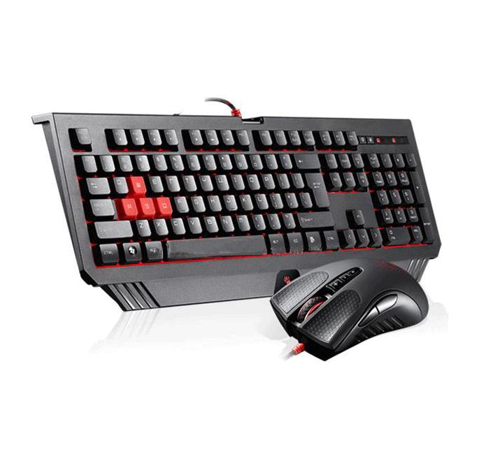 Геймърски комплект клавиатура с мишка Bloody Blazing B1500
