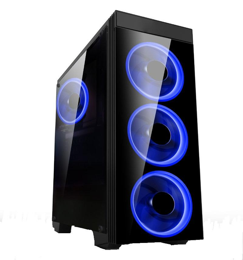 Кутия Estillo 8872 Blue Gaming ATX USB 3.0, 4 x Blue Fan