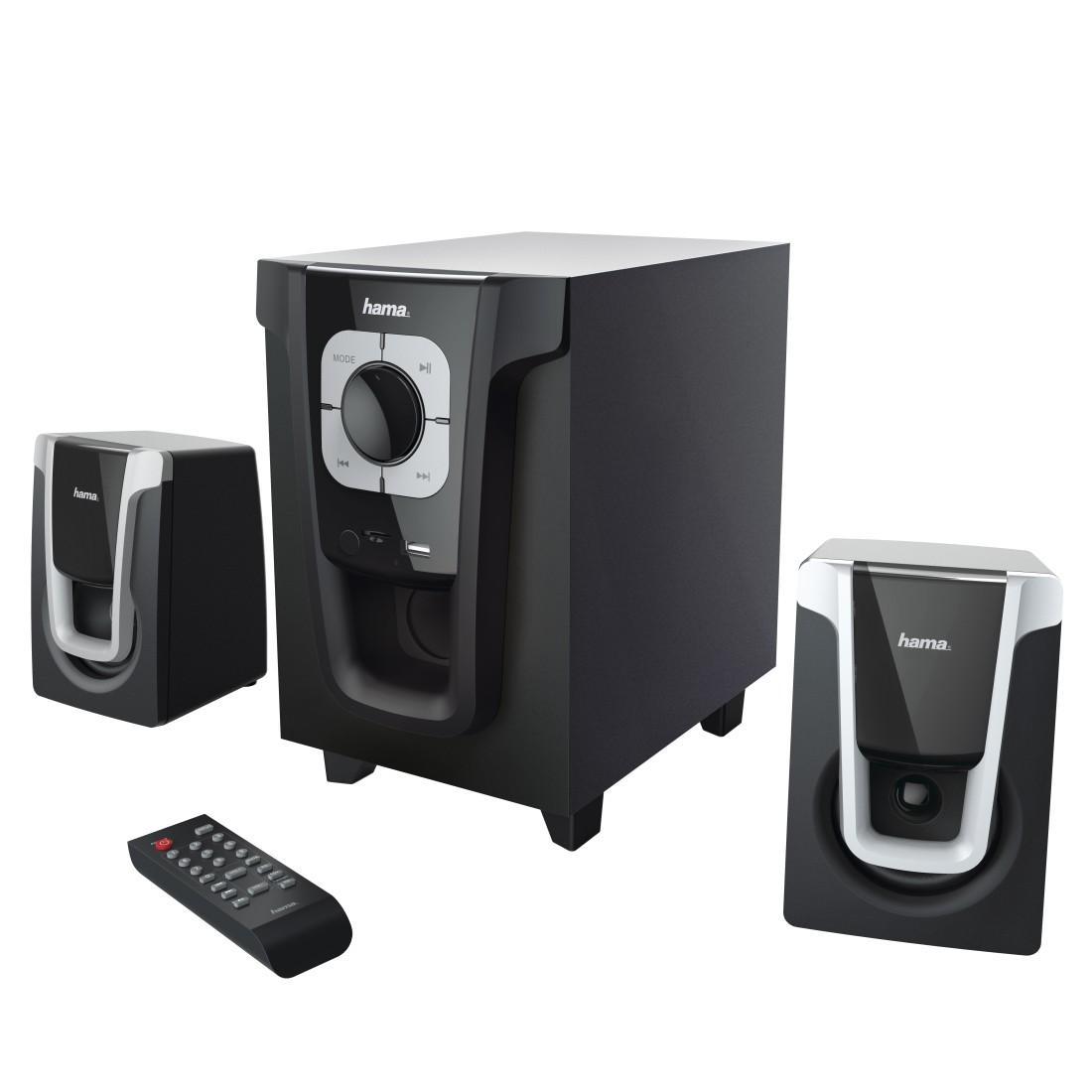 Звукова система HAMA PR-2120 173138, 2.1, 2x5W+10W, Черен