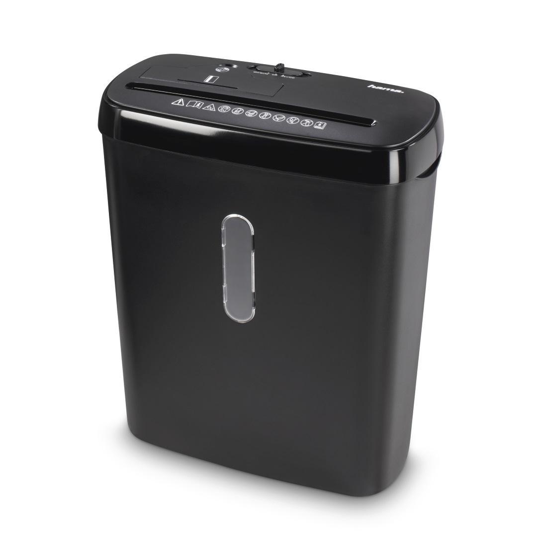 Шредер Hama Basic S8CD, A4, 8 листа, CD/DVD, Черен