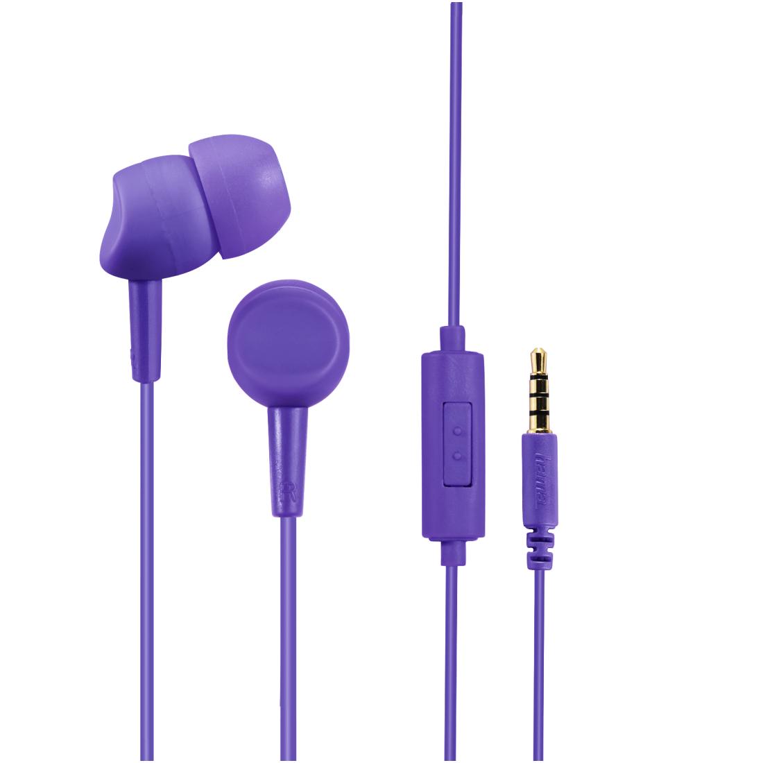 Слушалки HAMA Basic 4Phone,Микрофон, In-Ear, Виолетов