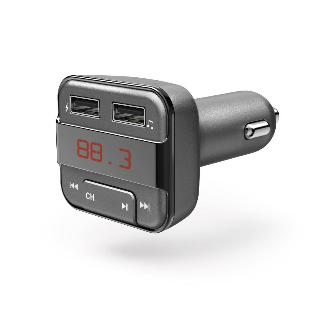 FM Трансмитер HAMA 183274, Bluetooth функция, Сив