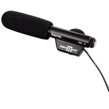Микрофон с насочване HAMA RMZ-16, 3.5mm, Черен