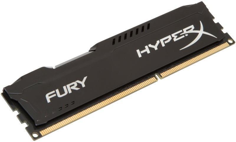 Памет Kingston HyperX Fury Black 8GB DDR3 PC3-12800 1600MHz CL10 HX316C10FB/8